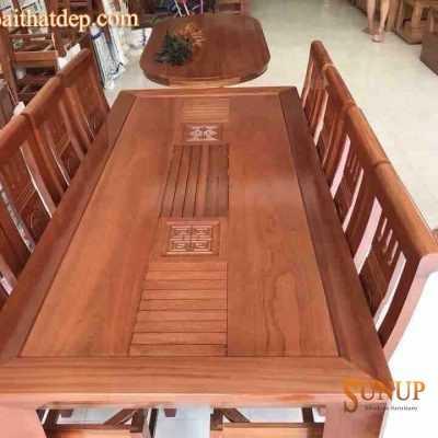 bàn ghế ăn gỗ 8 ghế