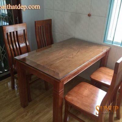 bàn ghế ăn gỗ sồi nga 18