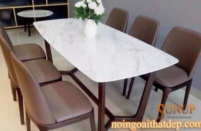 bàn ghế ăn mặt đá concoder
